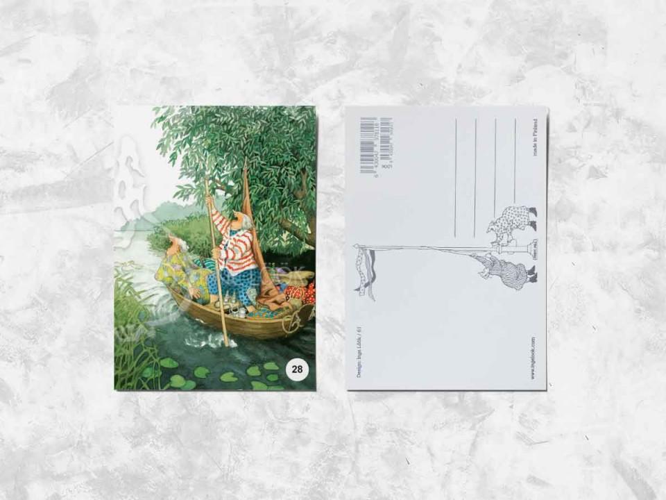 Открытка из коллекции Инге Лук «Весёлые бабушки в лодке»