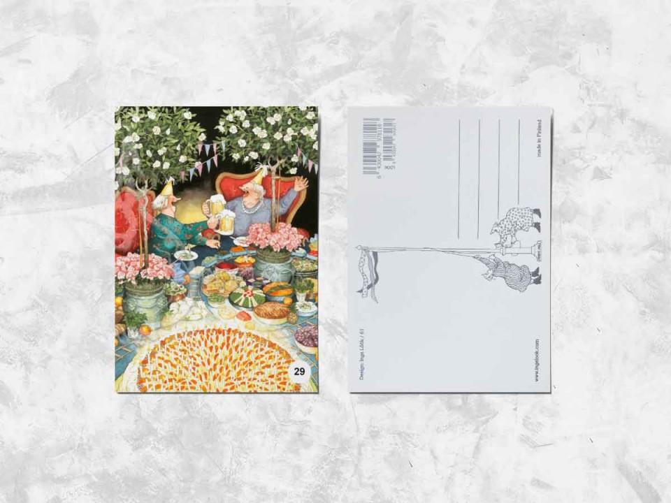 Открытка из коллекции Инги Лук «Весёлые бабушки празднуют день рождения»