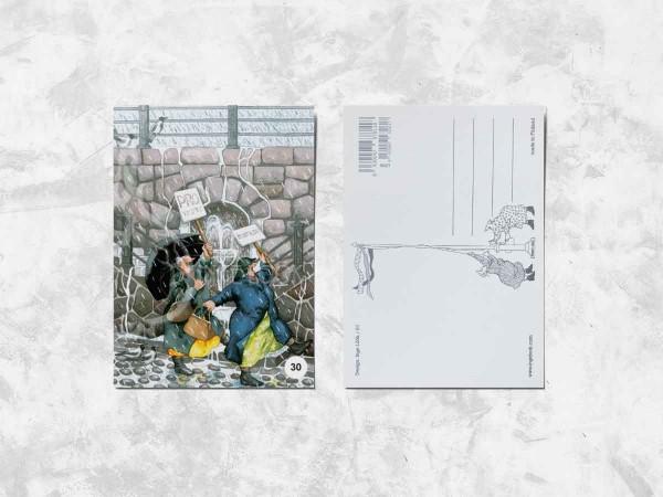 Почтовая открытка «Весёлые бабушки на акции протеста»