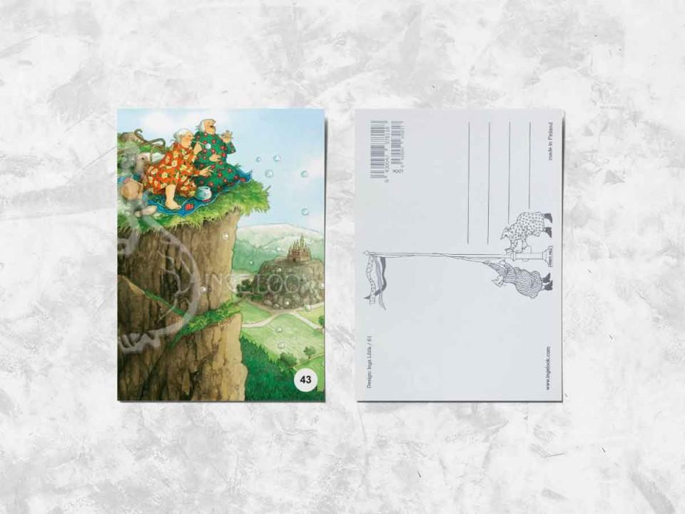 Открытка из коллекции Инги Лоок «Весёлые бабушки пускают мыльные пузыри»