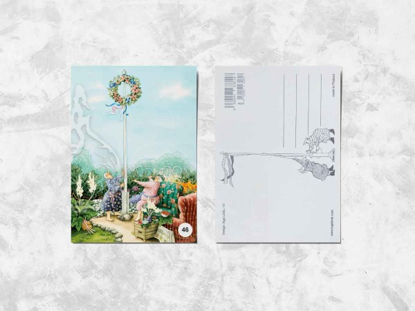 Почтовая открытка «Весёлые бабушки и венок»