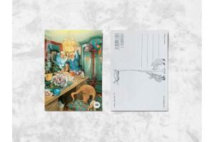 Почтовая открытка «Весёлые бабушки упаковывают подарок»