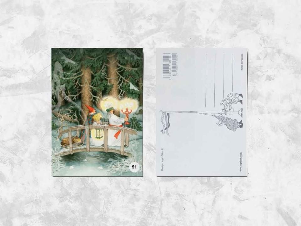 Открытка из коллекции Инги Лоок «Весёлые бабушки ночью в лесу»