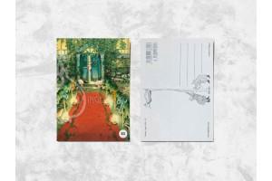 Почтовая открытка «Весёлые бабушки приоткрыли дверь»