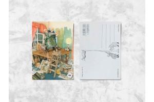 Почтовая открытка «Весёлые бабушки делают ремонт»