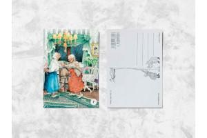 Почтовая открытка «Весёлые бабушки и леденцы»