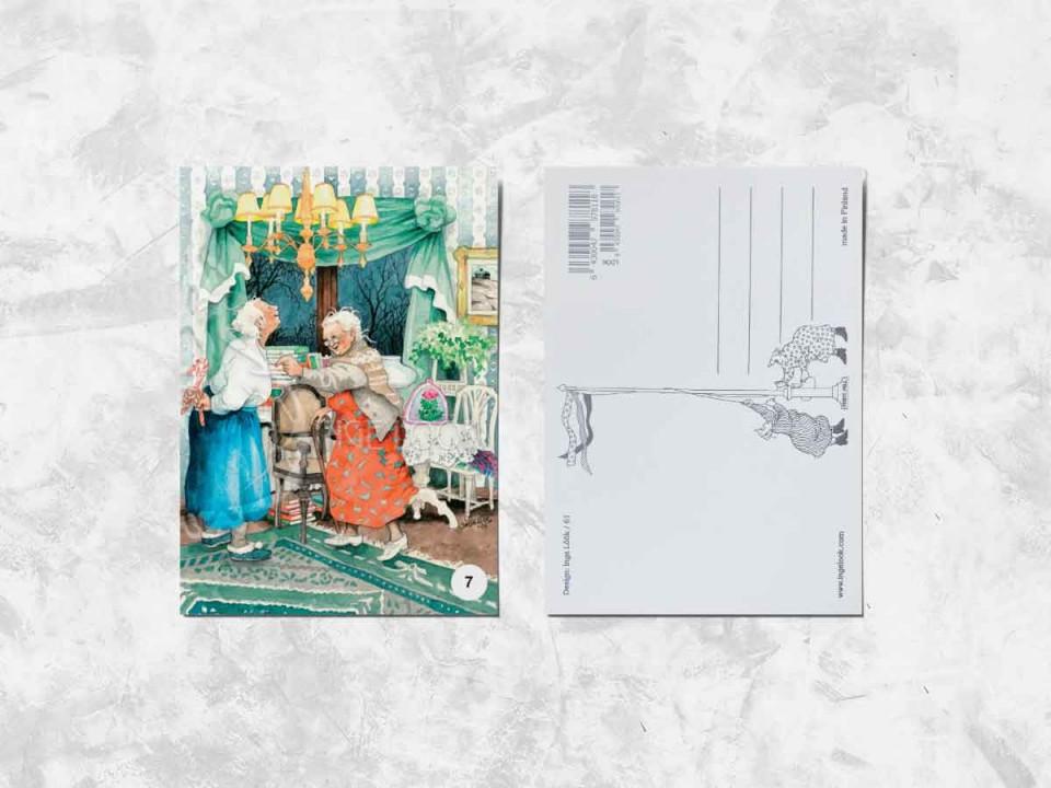Открытка из коллекции Инги Лук «Весёлые бабушки и леденцы»