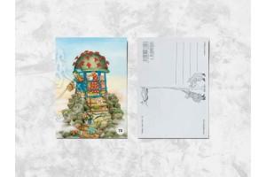 Почтовая открытка «Весёлые бабушки и их приключения»