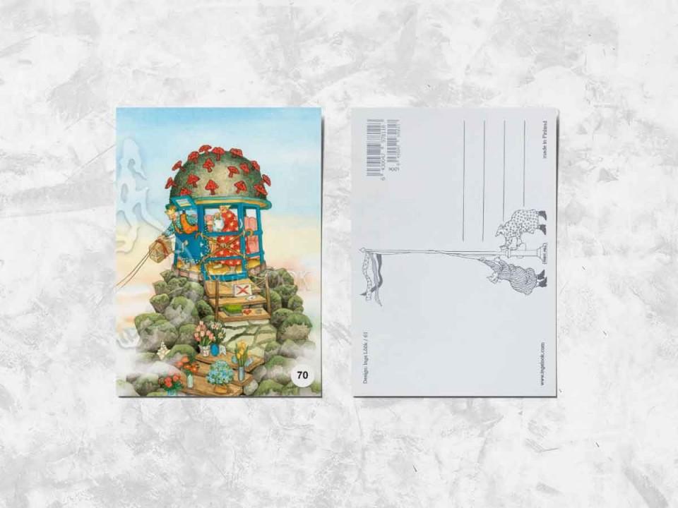 Открытка из коллекции Инги Лоок «Весёлые бабушки и их приключения»