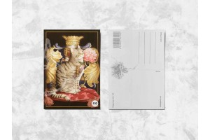 Почтовая открытка «Кот король»