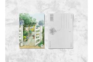 Почтовая открытка «Лето на даче»