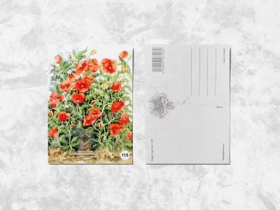 Почтовая открытка «Маки»