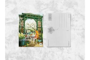 Почтовая открытка «Летнее чаепитие»