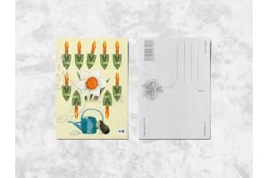 Почтовая открытка «Садовый инвентарь»
