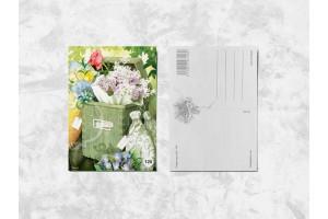 Почтовая открытка «Цветы в почтовом ящике»