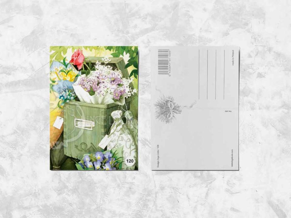 Открытка из коллекции Инги Лук «Цветы в почтовом ящике»