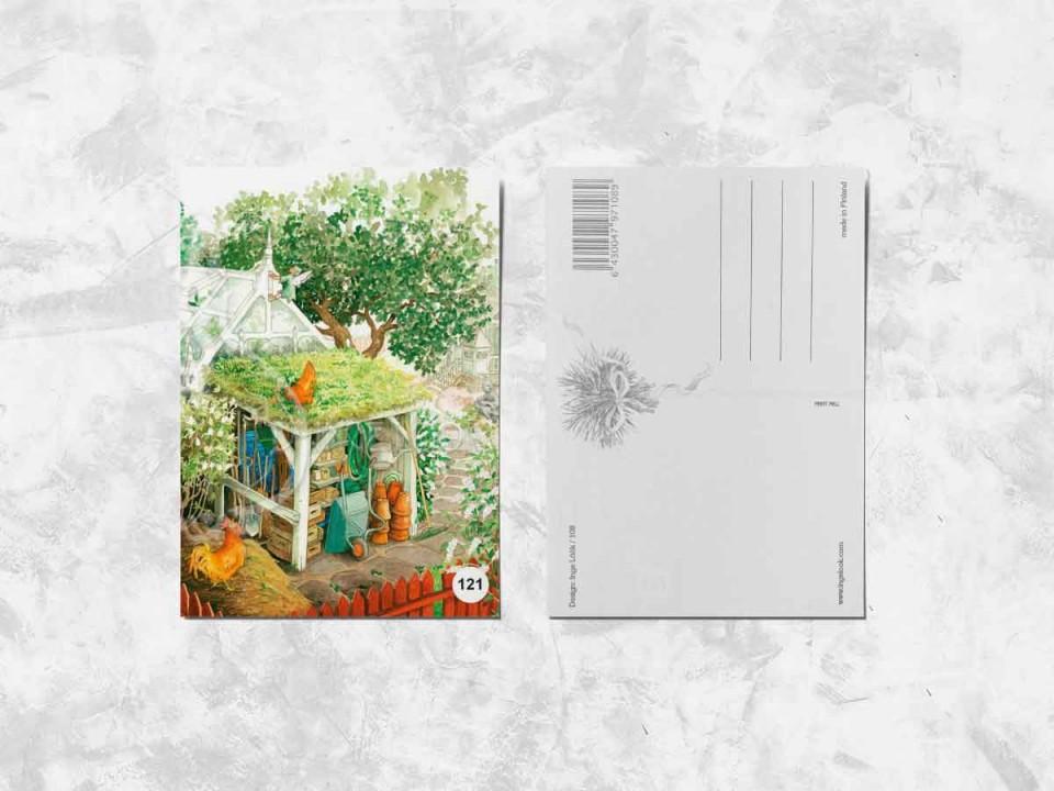 Открытка из коллекции Инги Лоок «Задний двор»