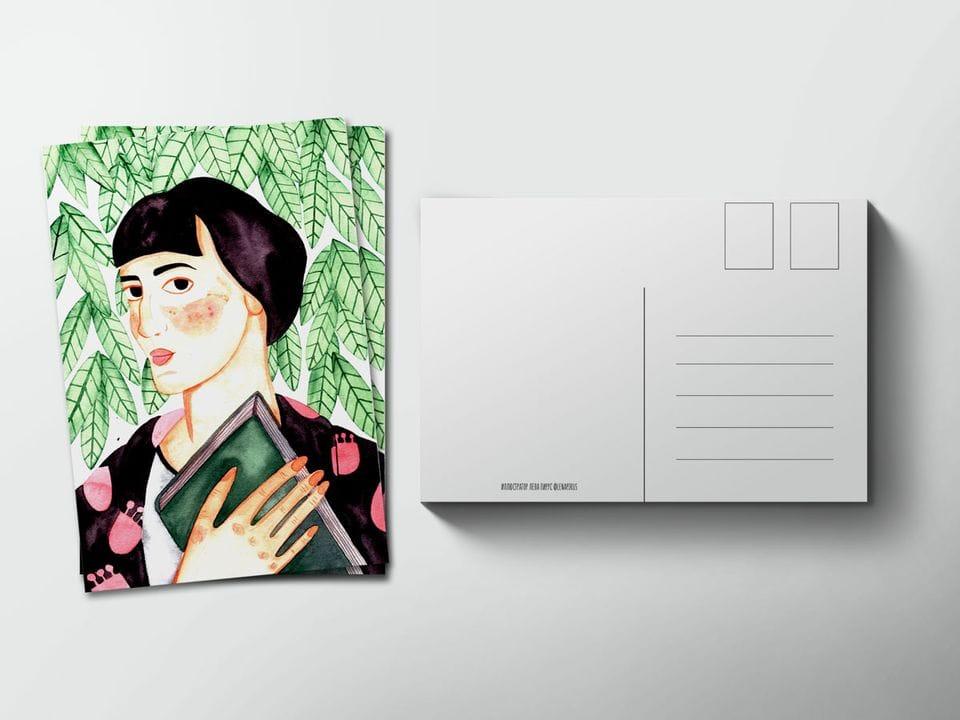 Почтовая открытка «Ахматова» из коллекции Лены Пирус