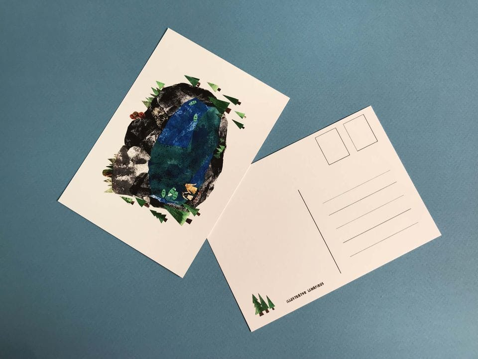 Почтовая открытка «Рускеала. Карелия» из коллекции Лены Пирус