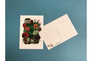 Почтовая открытка «Осеняя апликация», Елена Пирус