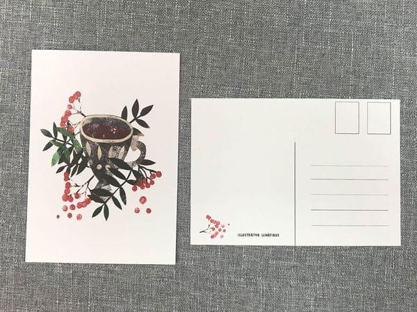 Почтовая открытка «Рябина», Елена Пирус