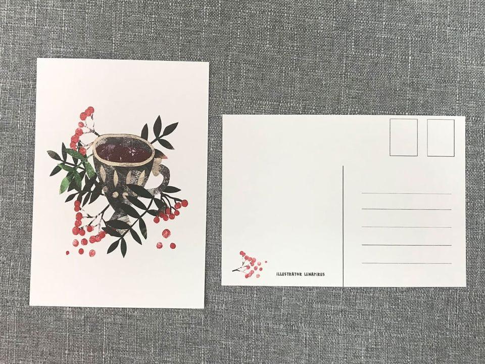 Почтовая открытка «Рябина», автор Лена Пирус