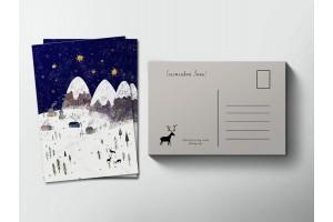 Почтовая открытка «Зимняя ночь», Елена Пирус