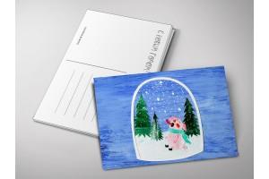 Почтовая открытка «Снежинки аппликация», Елена Пирус