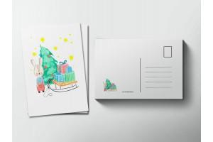 Почтовая открытка «Зайчик», Елена Пирус