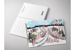 Почтовая открытка «Зима 2019 аппликация», Елена Пирус
