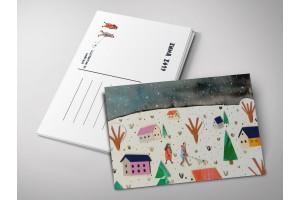 Почтовая открытка «Деревня», Елена Пирус