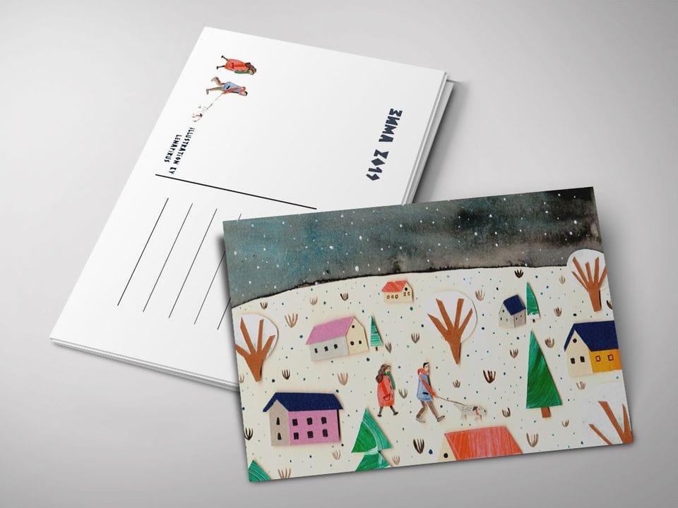 Почтовая открытка «Деревня», автор Лены Пирус