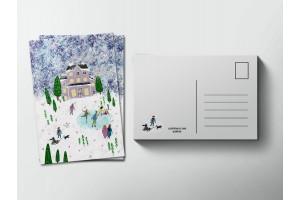 Почтовая открытка «Зимний вечер», Елена Пирус