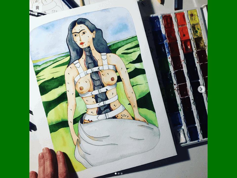 Почтовая открытка «Колонна»,Фрида Кало, автор Елена Пирус