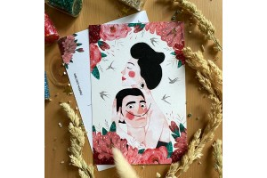 Почтовая открытка «Сальвадор Дали и Гала», Е.Пирус