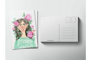 Почтовая открытка «Пионы», Елена Пирус