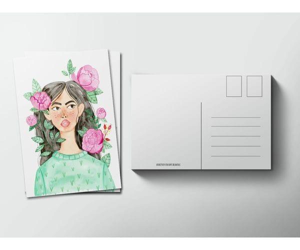 Почтовая открытка «Пионы» из коллекции Лены Пирус