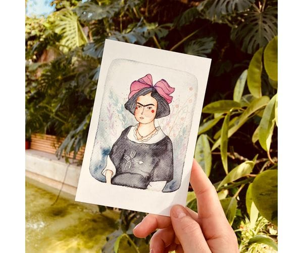 Почтовая открытка «Молодая Фрида», автор Елена Пирус