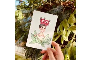 Почтовая открытка «Фрида в фикусе», Елена Пирус