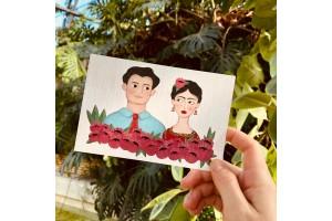 Почтовая открытка «Молодые, Диего и Фрида», Елена Пирус