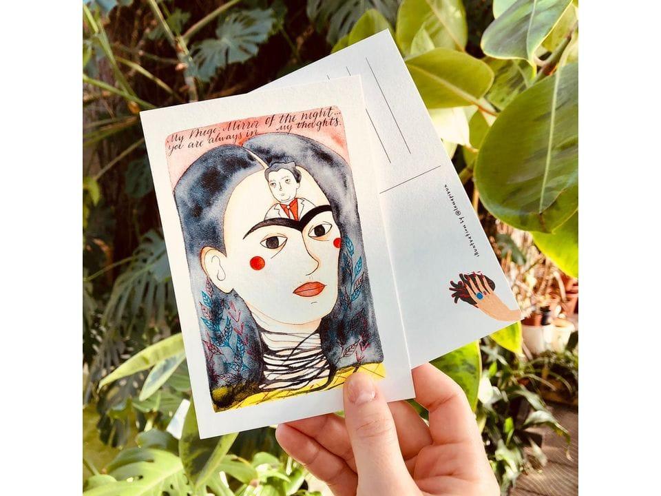 Почтовая открытка «Фрида и Диего», автор Елена Пирус