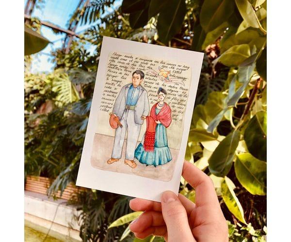 Почтовая открытка «Фрида и Диего»,Фрида Кало, автор Елена Пирус