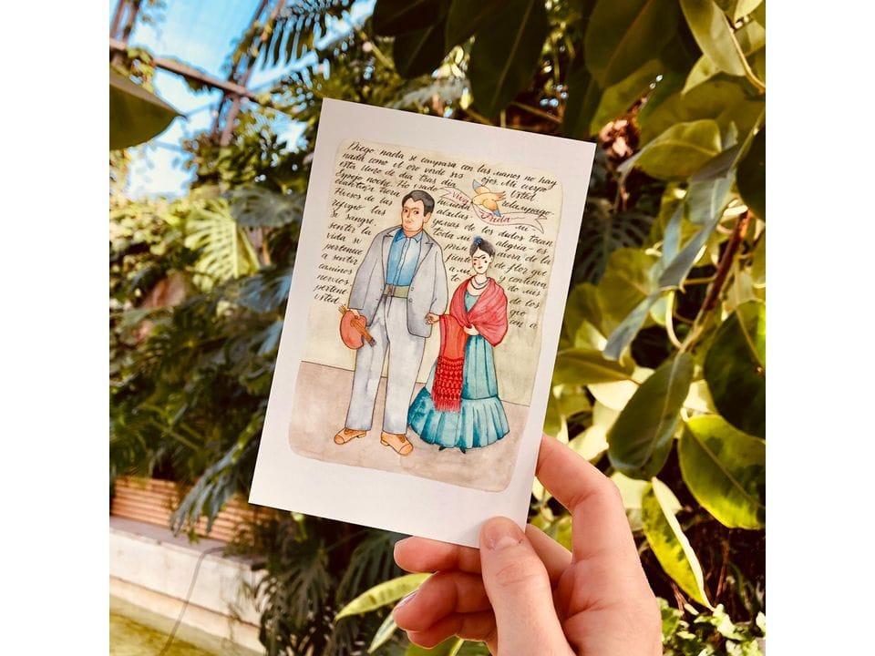Почтовая открытка «Фрида и Диего»,, автор Елена Пирус