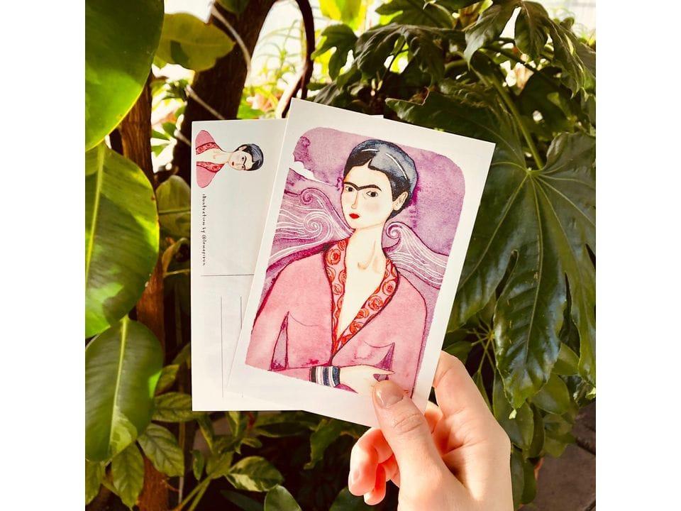 Почтовая открытка «Фрида в халате», автор Елена Пирус