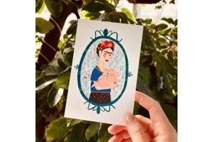 Почтовая открытка «Фрида с олененком», Елена Пирус