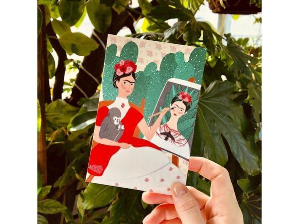 Почтовая открытка «Фрида автопортрет», Елена Пирус