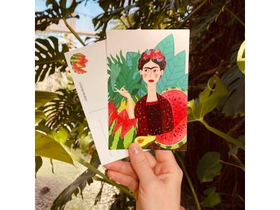 Почтовая открытка «Фрида с арбузами» из коллекции Лены Пирус
