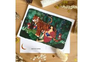 Почтовая открытка «Кормящая мама», Елена Пирус