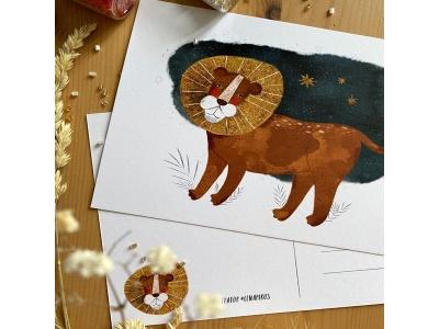 Открытка почтовая «Лев», автор Лена Пирус