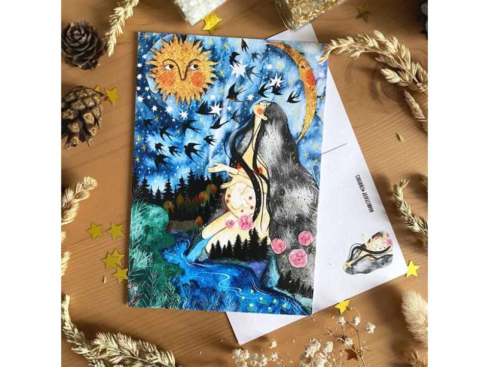Открытка почтовая «Мать - природа», автор Лена Пирус